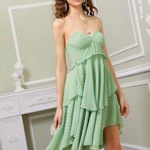 Shein green polka dot dress